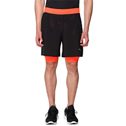 Running Faster Than You Men's 2 in 1 Shorts, Puma Black-Red Blast, small-IND