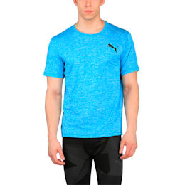 Training Men's Essential Puretech Heather T-Shirt, BLUE DANUBE Heather, small-IND