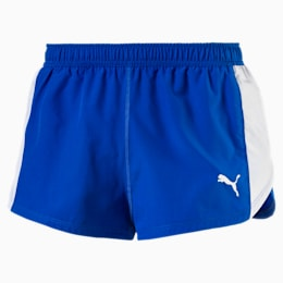 Cross the Line Split Woven Men's Shorts, Team Power Blue, small-IND