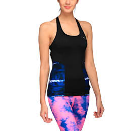 Active Training Women's All Eyes On Me Tank Top, black-tr blue-feather pt, small-IND