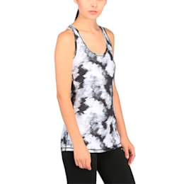 Training Women's Essential Layer Graphic Tank Top, puma black-white explosv pt, small-IND