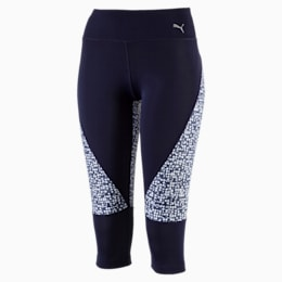 Active Training Women's Culture Surf 3/4 Tights, Peacoat-white box print, small-IND