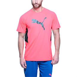 Active Training Men's Vent Cat T-Shirt, Bright Plasma, small-IND