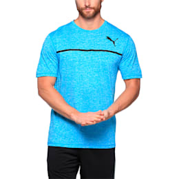 Active Training Men's Bonded Tech T-Shirt, BLUE DANUBE Heather, small-IND