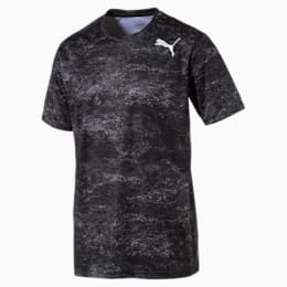 Training Men's Tech Graphic T-Shirt, puma white-Black, small-IND