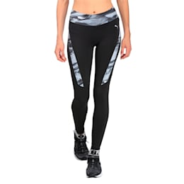 Running Women's Graphic Tights, Puma Black-AOP, small-IND