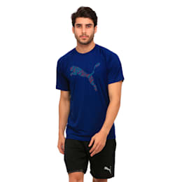 Active Training Men's Vent Cat T-Shirt, Blue Depths, small-IND