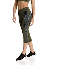 Active Training Women's Explosive 3/4 Tights, Olive Night-nature prt, small-IND