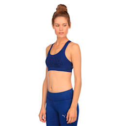 Training Women's PWRSHAPE Forever Logo Bra Top, Blue Depths-PUMA, small-IND