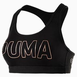 Training Women's PWRSHAPE Forever Padded Logo Bra Top, Puma Black-PUMA, small-IND