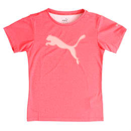 Girls' Training T-Shirt, Paradise Pink Heather, small-IND