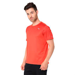 Graphic Short Sleeve Men's Running T-Shirt, Flame Scarlet, small-IND