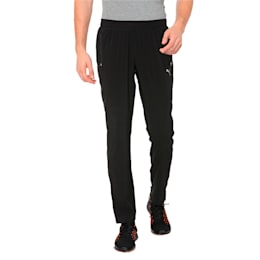 Tapered Woven Men's Running Pants, Puma Black, small-IND