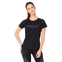 NightCat Women's Short Sleeve T-Shirt, Puma Black, small-IND