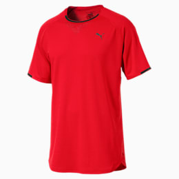 Energy Laser Men's Short Sleeve Training Top, Flame Scarlet Heather, small-IND