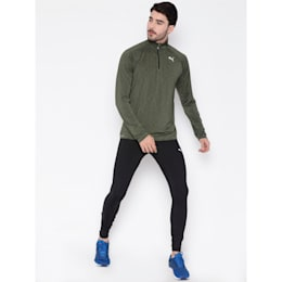 Core-Run LS HZ Tee, Olive Night Heather, small-IND