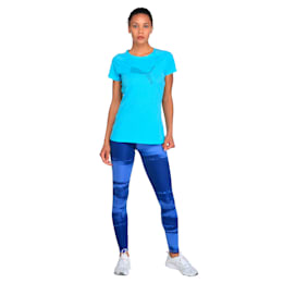 Core-Run S S Logo Tee W, Nrgy Turquoise, small-IND
