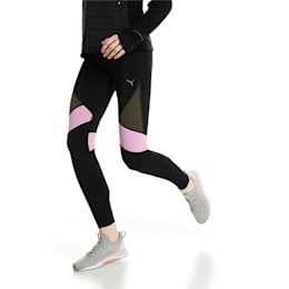 IGNITE Women's Running Tights, Black-Forest Night-Orchid, small-IND