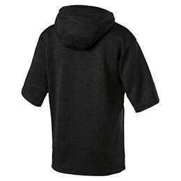 Training Men's Energy Short Sleeve Hoodie, Puma Black Heather, small-IND