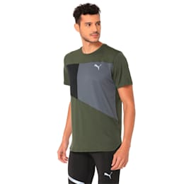 IGNITE Short Sleeve Men's Running Tee, Forest Night-Iron Gate, small-IND