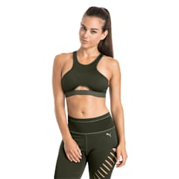Training Women's Cutout Mid Impact Bra Top, Forest Night, small-IND