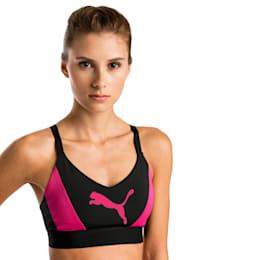 Top soutien-gorge Training Mid Impact Logo pour femme, Puma Black-Fuchsia Purple, small