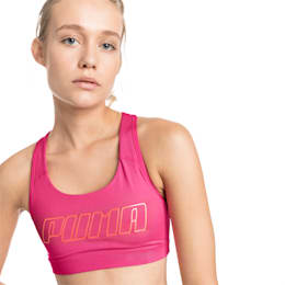 4Keeps Mid Impact Women's Bra Top, Fuchsia Purple-CF PUMA, small