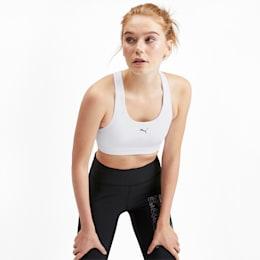 4Keeps Mid Impact Women's Bra Top, Puma White, small