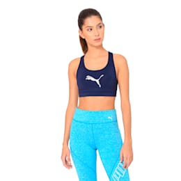 Training Women's 4Keeps Mid Impact Bra Top, Peacoat, small-IND