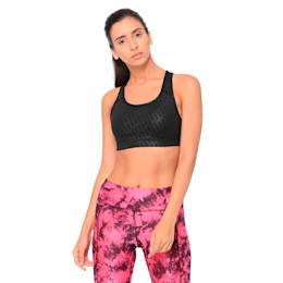 4Keeps Graphic Women's Sports Bra, Puma Black-Emboss, small-IND