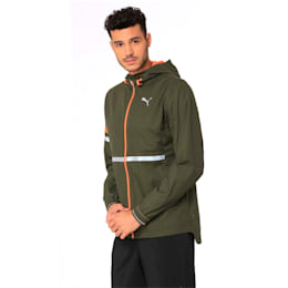 LastLap Zip-Up Hooded Men's Jacket, Forest Night Heather, small-IND