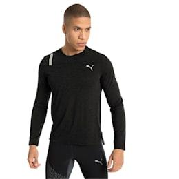 Warming Long Sleeve Men's Training Top, Puma Black Heather, small-IND