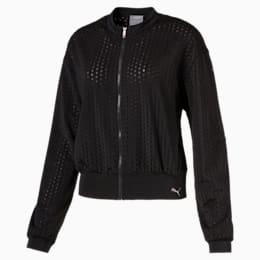 Luxe Zip-Up Women's Jacket, Puma Black, small