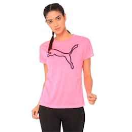 A.C.E. Crew Neck Women's T-Shirt, KNOCKOUT PINK, small-IND
