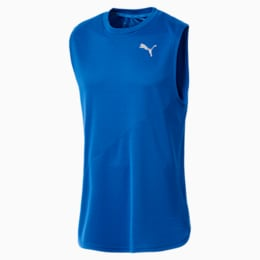 IGNITE Mono Men's Running Singlet, Strong Blue, small-IND