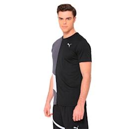 IGNITE Men's Running T-Shirt, Puma Black-Asphalt, small-IND