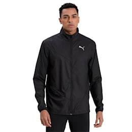 IGNITE Woven Men's Running Track Jacket, Puma Black-Puma Black, small-IND