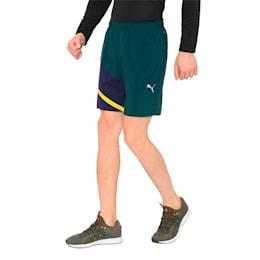IGNITE Woven Men's Training Shorts, Ponderosa Pine-Peacoat, small-IND