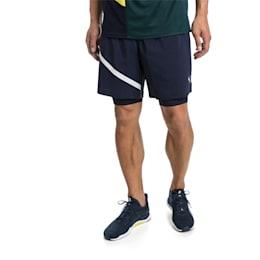 Ignite Woven 2 in 1 Men's Running Shorts, Peacoat-Puma White, small-SEA