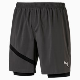 Ignite Woven 2 in 1 Men's Running Shorts, Asphalt-Puma Black, small-SEA