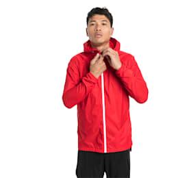 Lightweight Full Zip Hooded Men's Jacket, High Risk Red, small-SEA
