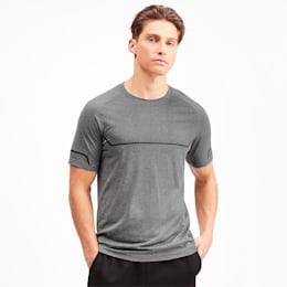 Energy Seamless Herren Training T-Shirt, Medium Gray Heather, small
