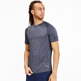 T-Shirt Energy Seamless Training pour homme, Peacoat Heather, small