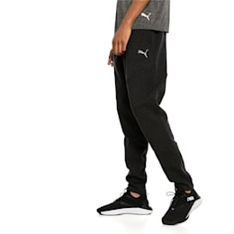 BND Tech Knitted Men's Training Pants, Puma Black Heather, small-IND