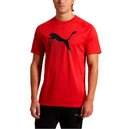 The Cat Men's Heather Tee, High Risk Red Heather, small