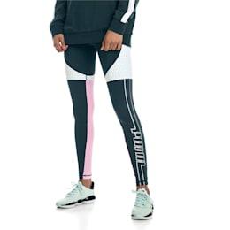 Cosmic Trailblazer Women's Training Leggings, Ponderosa Pine-Fair Aqua, small-IND