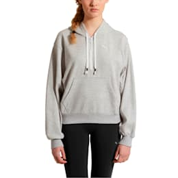 Feel It Cover Up Women's Half Zip Hoodie, Light Gray Heather, small