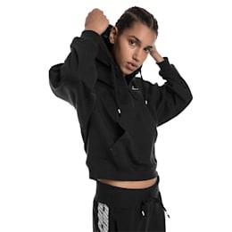 Feel It Cover Up Women's Half Zip Hoodie, Puma Black, small