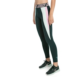 Own It Full Women's Training Tights, Ponderosa Pine-Fair Aqua, small-SEA