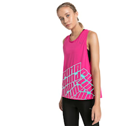 Aire Women's Training Tank Top, Fuchsia Purple Heather, small